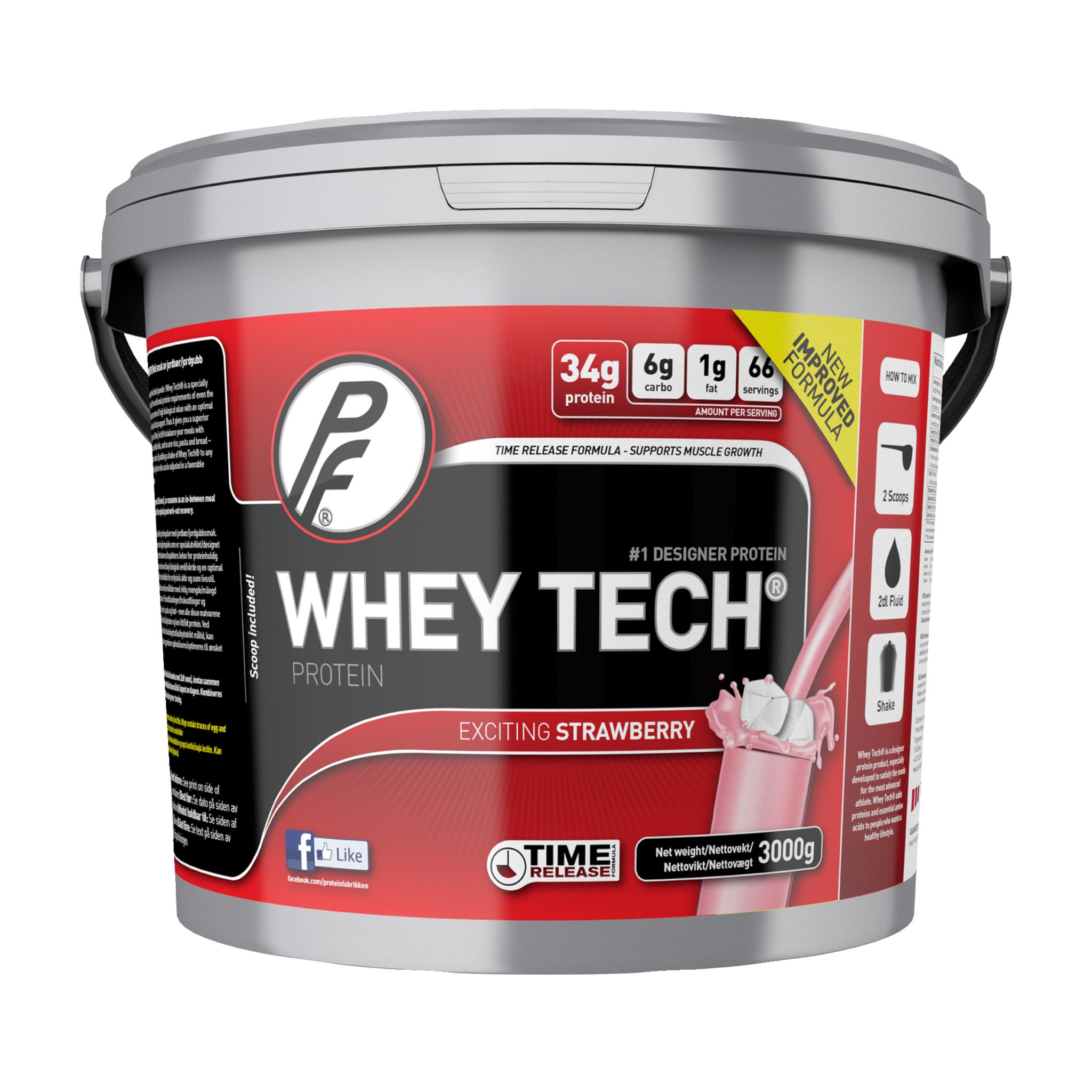 Proteinfabrikken Whey Tech 3 kg, protein