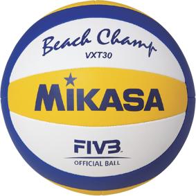 Mikasa VXT30, beachvolleyball one size blue/yellow/white