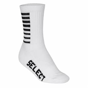 Select Handball Sports Sock Striped, håndballstrømpe unisex 46-48 White