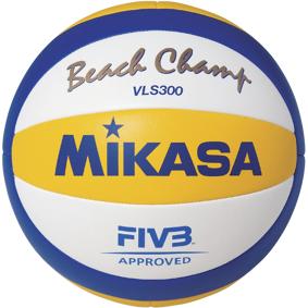Mikasa VLS300, beachvolleyball one size blye/yellow/white