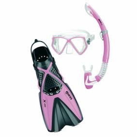 Mares X-One Pirate-18, snorkelsett junior  S/30-34 Pink