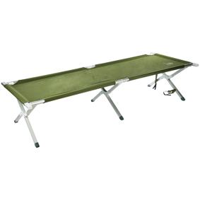 Mackenzie Aluminium Camping Bed, feltseng One Size Green