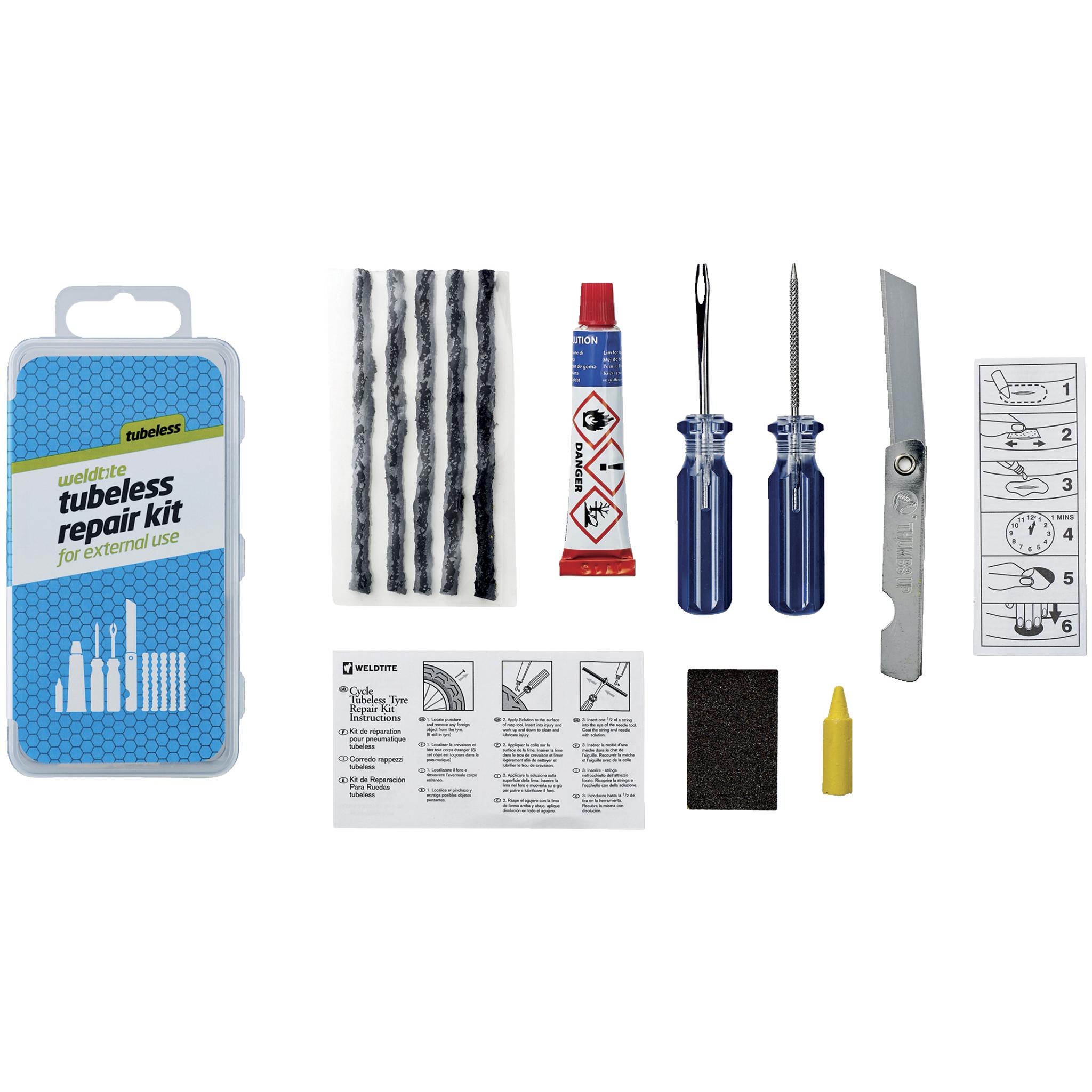 Weldtite Tubeless Repair kit, reparasjonssett slangeløse dekk
