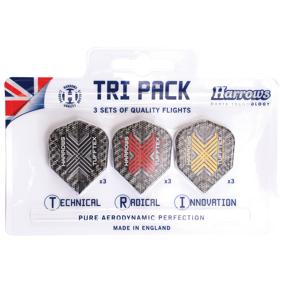 Harrows Tufftex Flights Tri Pack, dartvinger 9-pk STD STD