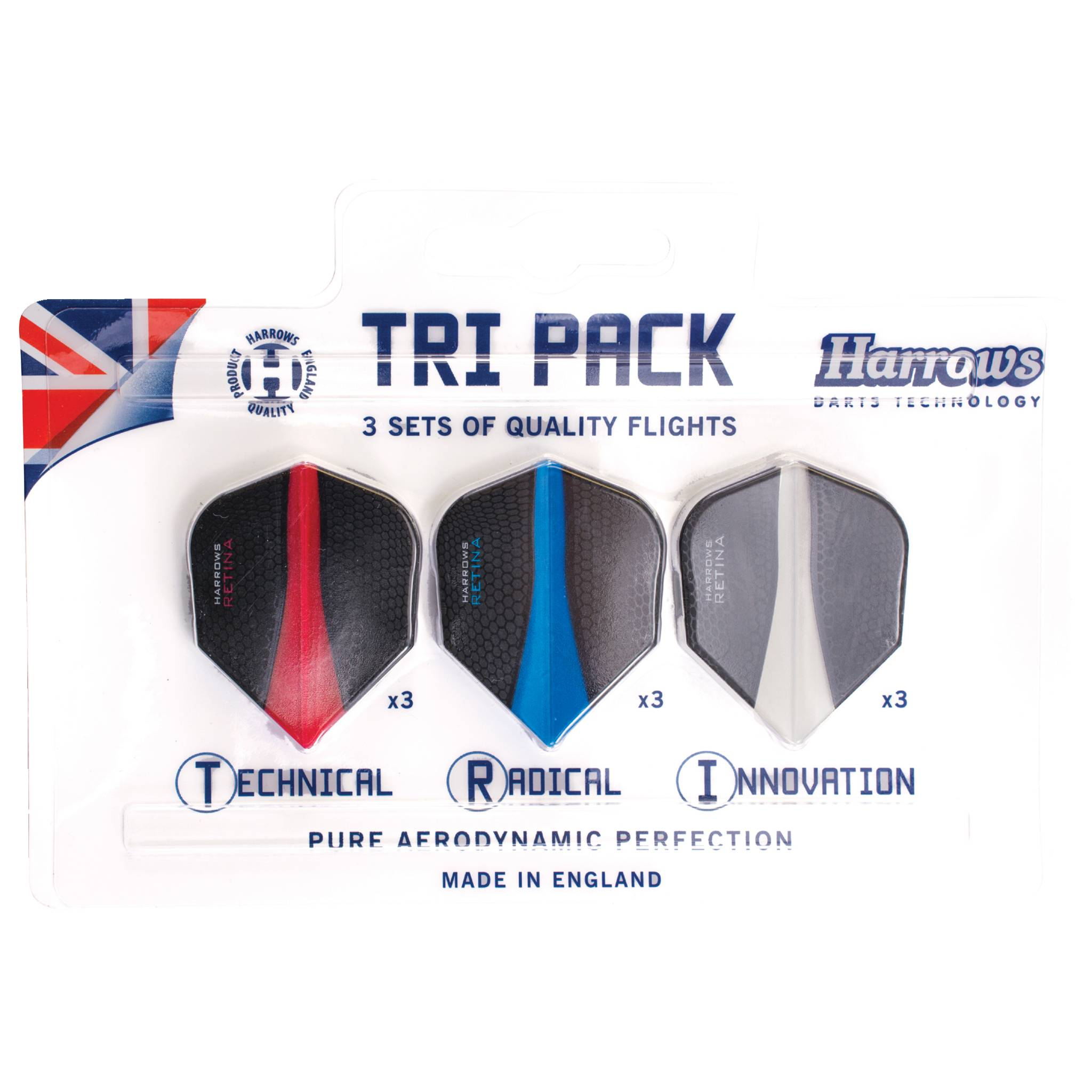 Harrows Retina Flights Tri Pack, dartvinger 9-pk