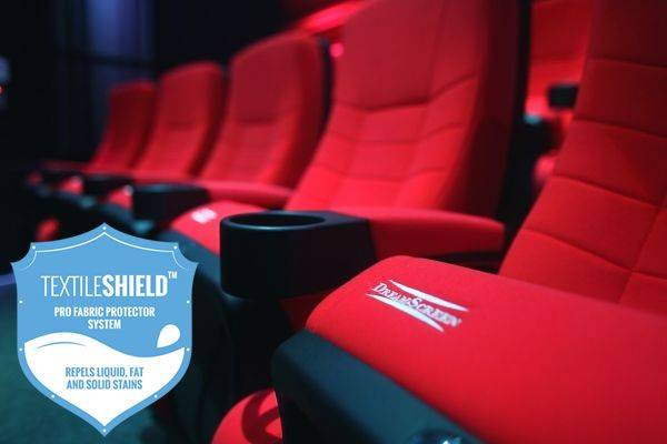 DreamScreen CINESEAT THEATRE MED TEXTILESHIELD RED FABRIC 3-SETER