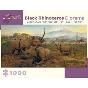Black Rhinoceros Diorama 1000-Piece Jigsaw Puzzle