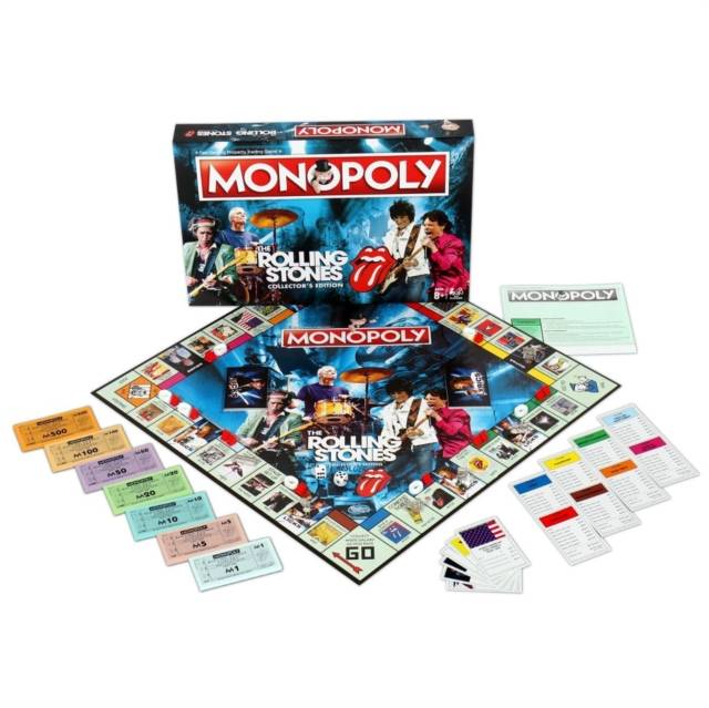 Rolling Stones Monopoly Board Game