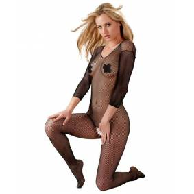 Orion Fishnet Catsuit - Heldekkende - Sort, str. S-L