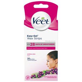 Veet Easy-Gel Wax Strips Normal Skin Face (20 Stk)