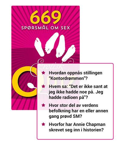 Erotisk Quiz - 669 Pirrende Spør...