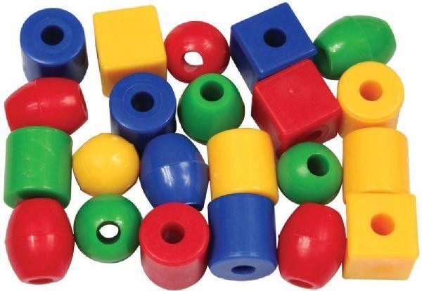Bigjigs Små lærperler 1440 stk - Bigjigs perler 670132