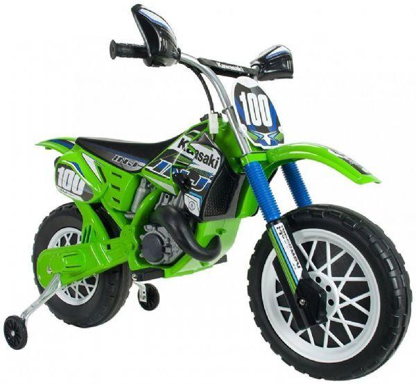 Injusa Kawasaki Motorsykkel 6v - Elbil til barn 6 volt 6775