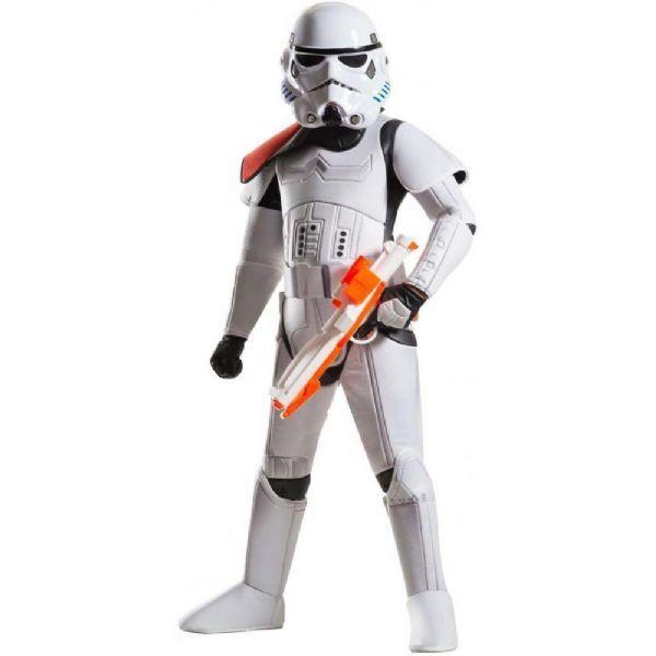 Star Wars Deluxe Stormtrooper kostyme 12 - Star Wars fast navn og kjole 6
