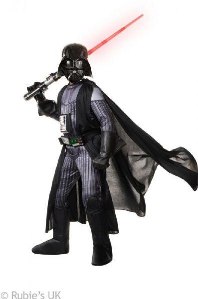 Star Wars Deluxe Darth Vader kostyme 110 - Star Wars fast navn og kjole 6