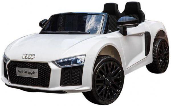 Electric Audi R8 White Electric Car 12V - Elektrisk bil for barn 000442