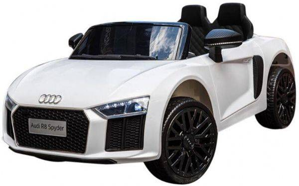 Electric Audi R8 White Electric Car 12V - Elektrisk bil for barn 000442