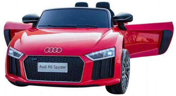 Electric Audi R8 Red Electric Car 12V - Elektrisk bil for barn 000558
