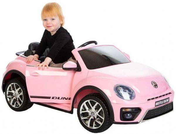 VW Beetle Dune 12V Pink - Elektrisk bil for barn 001036