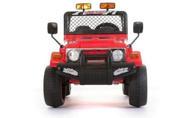 Azeno 12v rød bøffel - Elektrisk kjøretøy gummi hjul