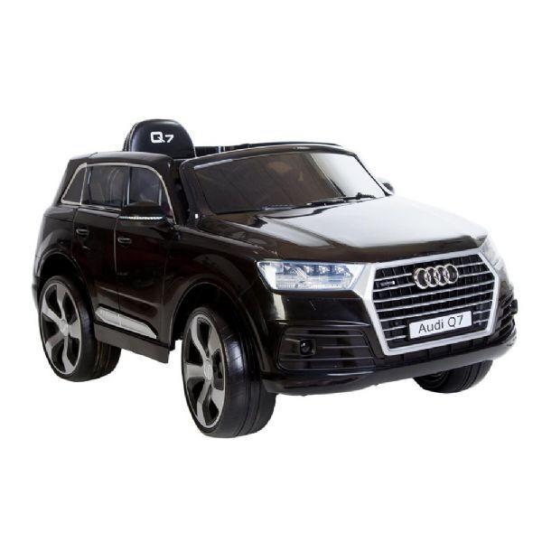 Audi Q7 Black 12V ekte gummihj - Elektriske biler til barn 1107
