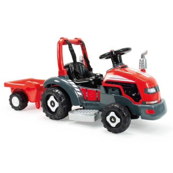 Injusa Traktor med vogn Elektrisk bil - Injusa Elektrisk traktor for b