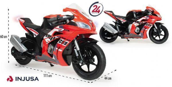 Injusa Honda El Motorsykkel - Elektrisk bil for barn 24v 649