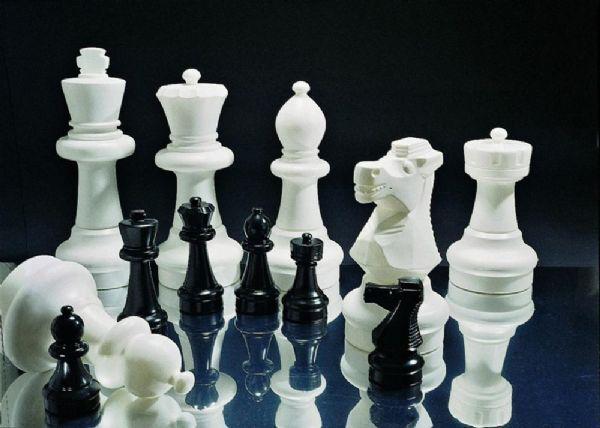 Rolly Store Sjakk brikker og spillefelter - Rolly Toys hagesjakk 218707+218752