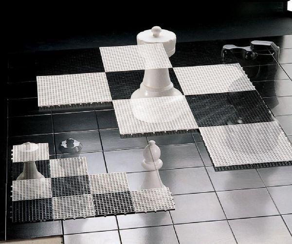 Rolly Store Sjakk/Dam felter 36 x 36 cm - Rolly Toys sjakk/dam 218752