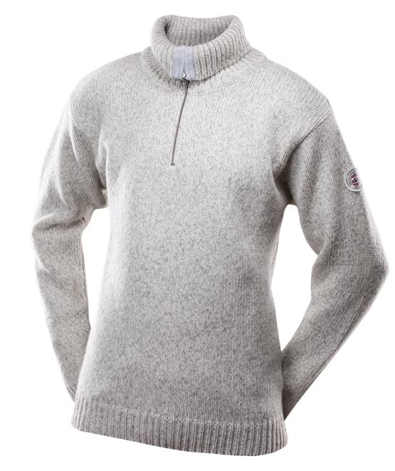 Devold Nansen genser m/glidelås Grey Melange