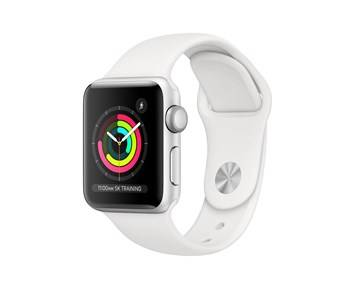Apple Watch Series3 GPS, 38mm Silver Aluminium Case with White Sport Band
