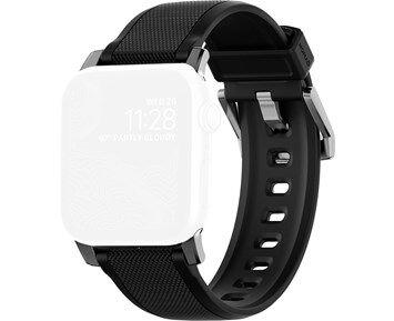 Apple Nomad Rugged Sport Strap Apple Watch 42mm Black/Silver