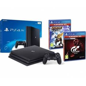 Sony Ericsson PlayStation 4 PRO 1TB+Gran Turismo Sport HITS + Ratchet and Clank HITS