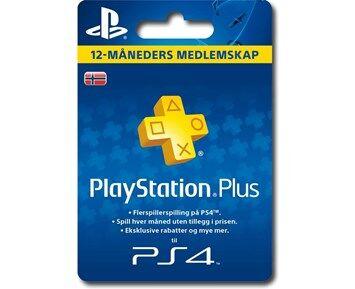 Sony Ericsson PS4 PSN Plus 12 Month NO