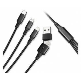 Andersson 3 in 2 Braided USB Cable 1,2M 3A