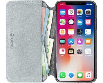 Krusell Broby 4 Card SlimWallet Grey iPhone XS Max