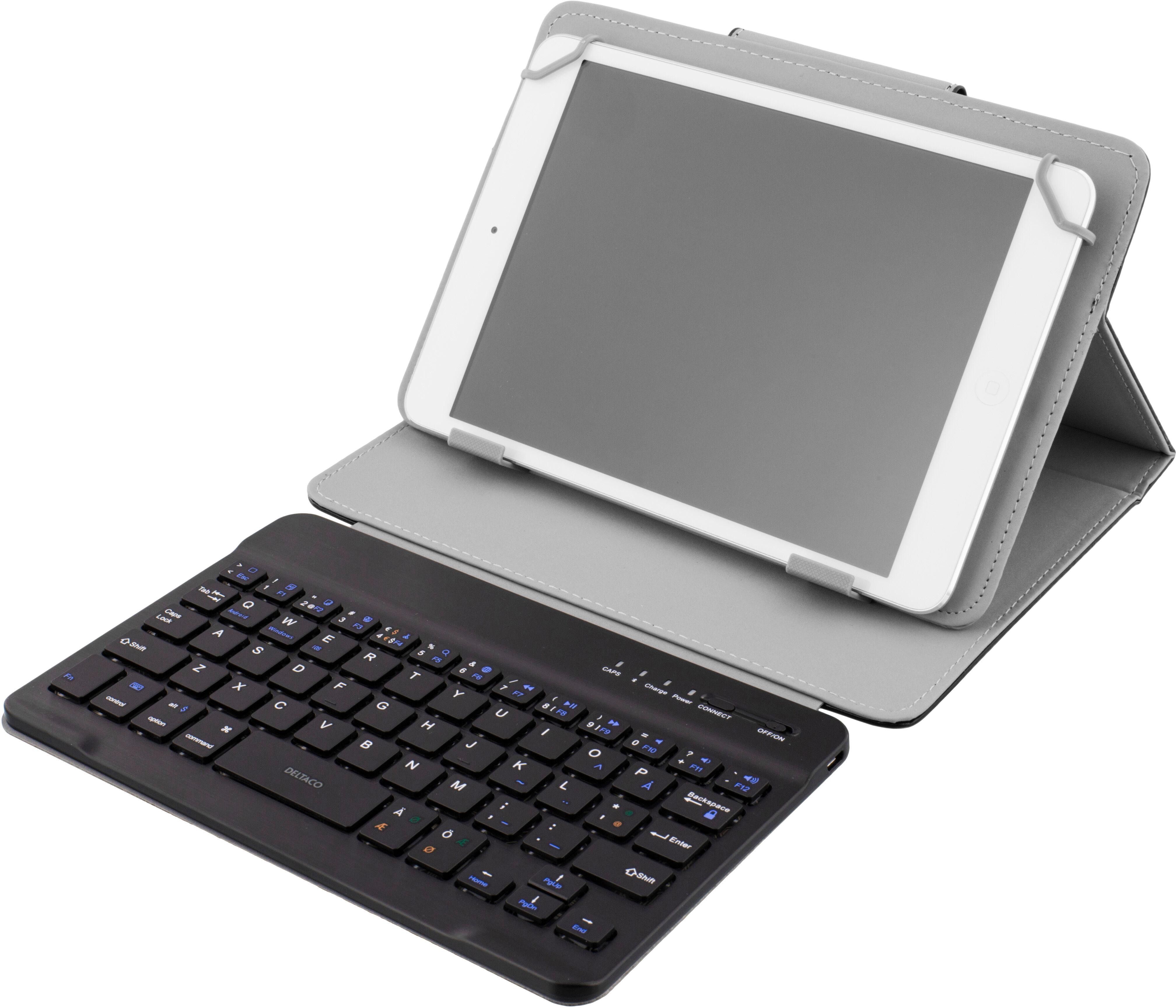 """Deltaco TB-134 Deltaco deksel med tastatur for 7"""" tablet , Bluetooth, svart (Kan sendes i brev)"""