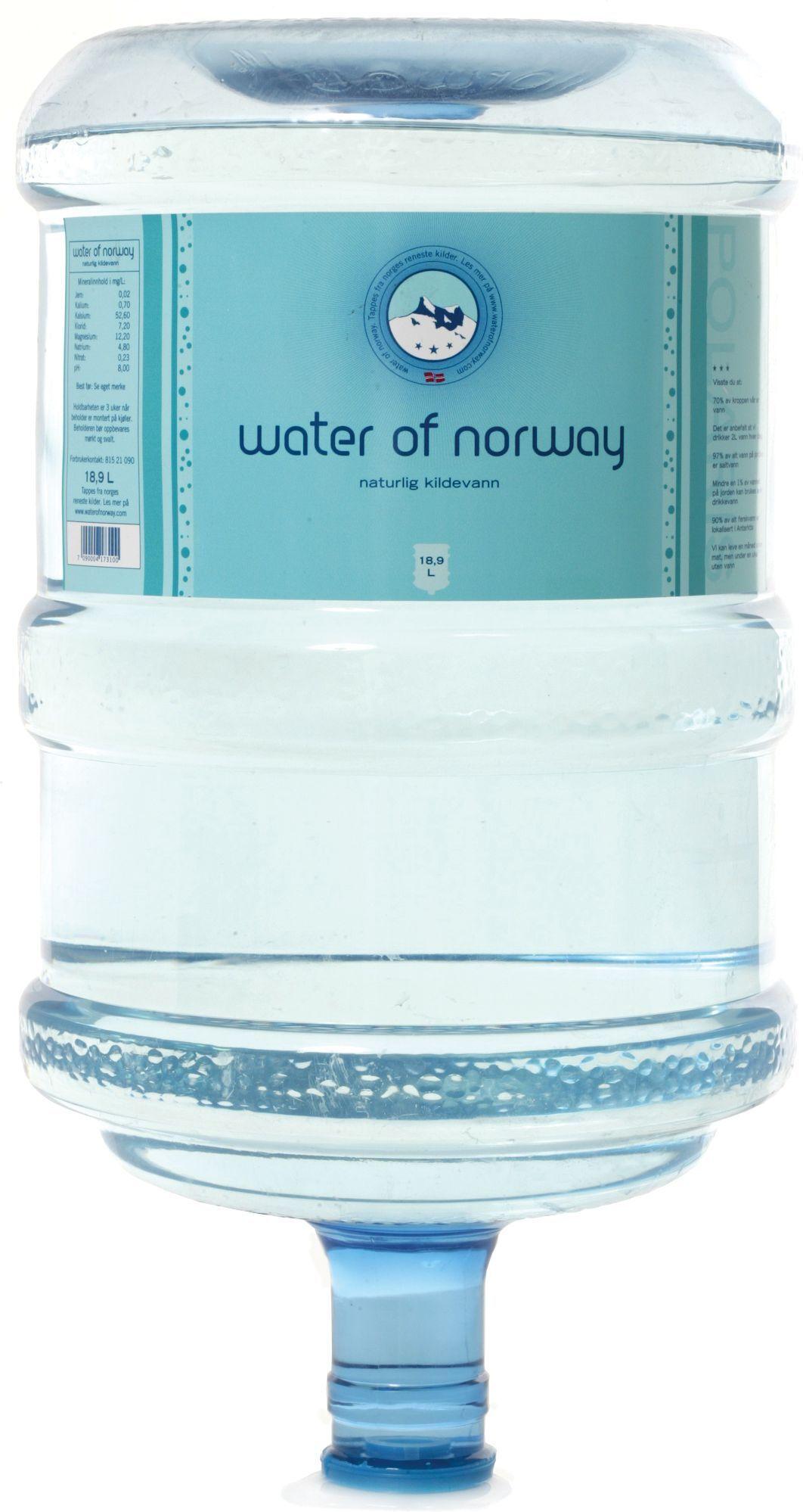 Water 510001 Water Kildevann OF NORWAY 18,9L PET