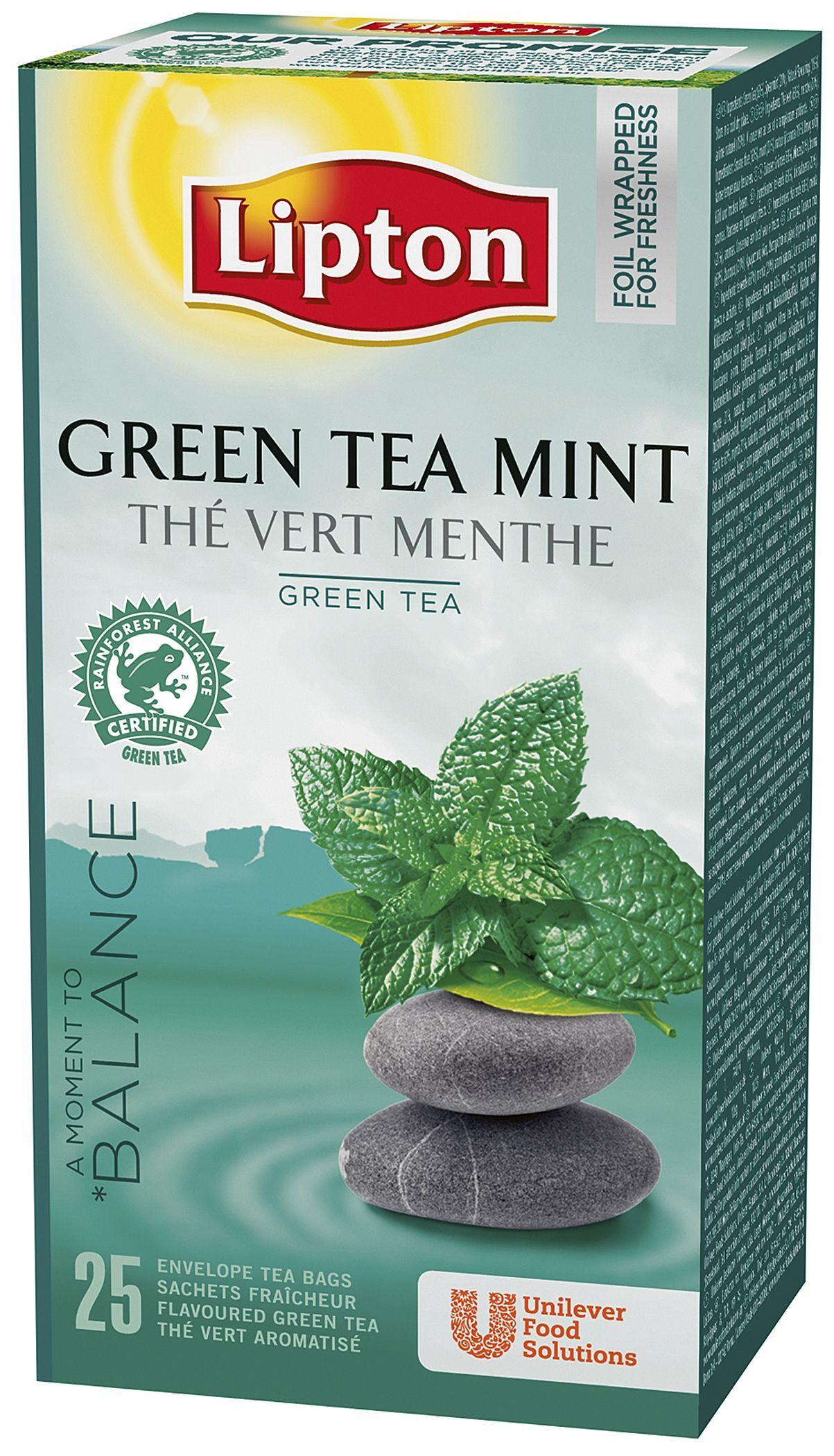Lipton 71622 Lipton Te grønn tchae m/mint (fp med 25 stk) (Kan sendes i brev)