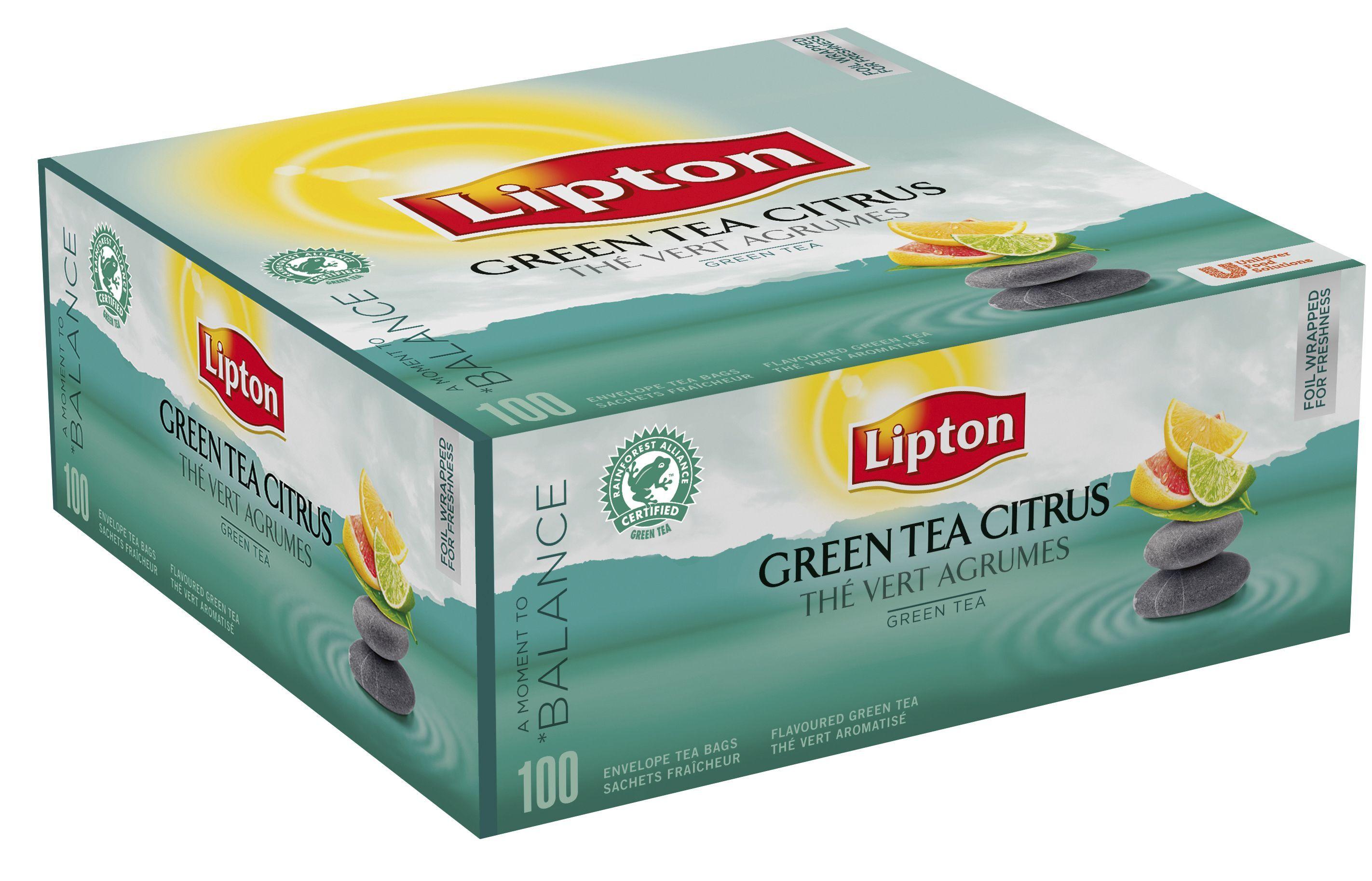 Lipton 16113201 Lipton Te grønn m/citrus (fp med 100 stk)