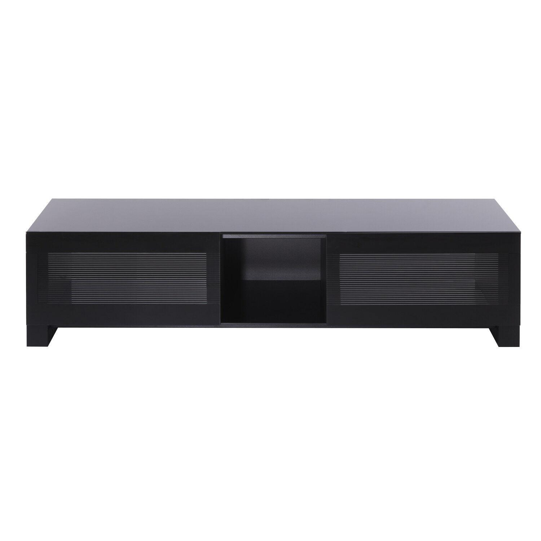Erard 036572 Erard BILT 1400, TV-benk max 60kg, tre finér/herdet glass/stål, sv