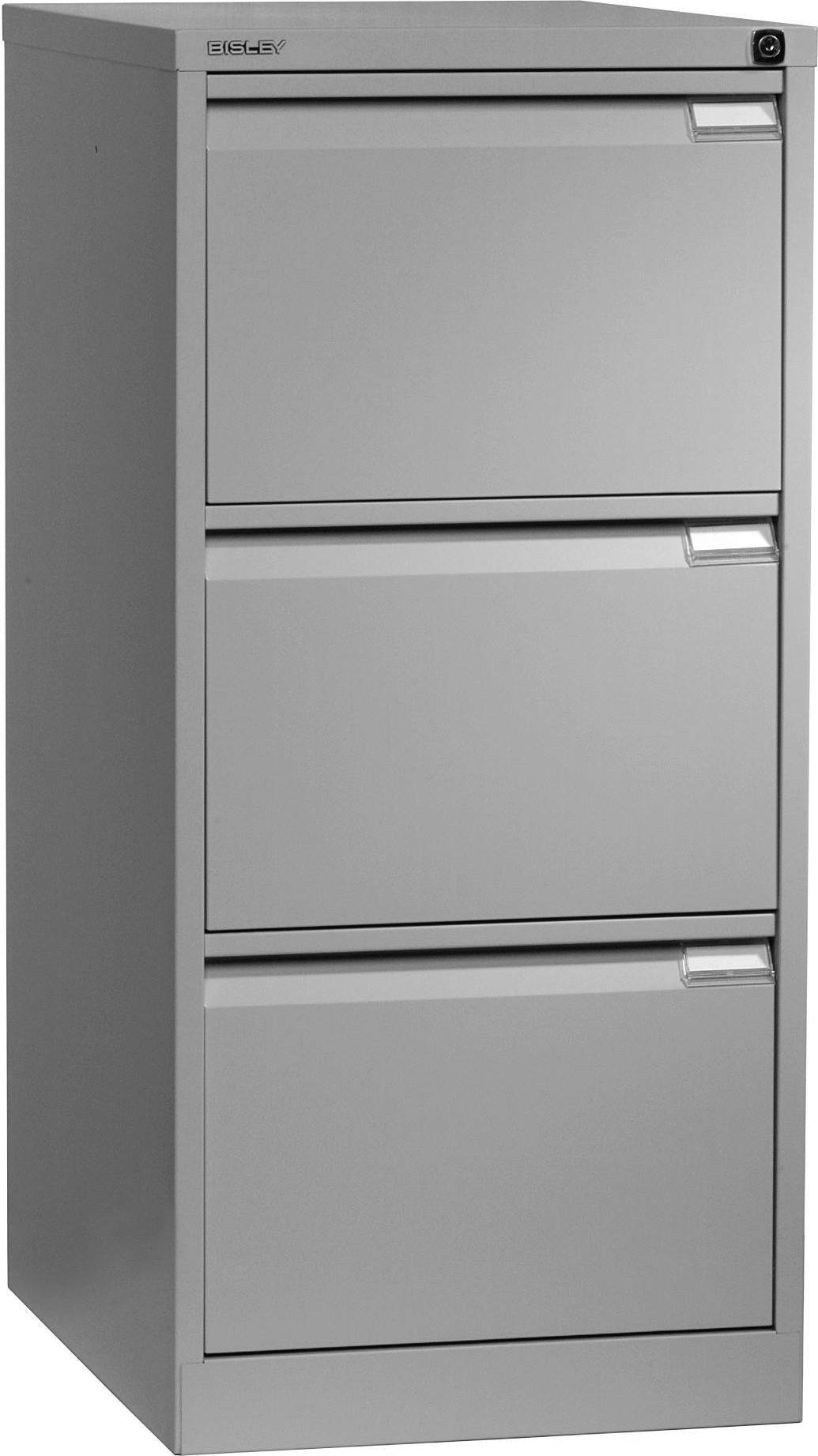 Bisley 3633055 Bisley Hengemappeskap 3SK A4 sølv