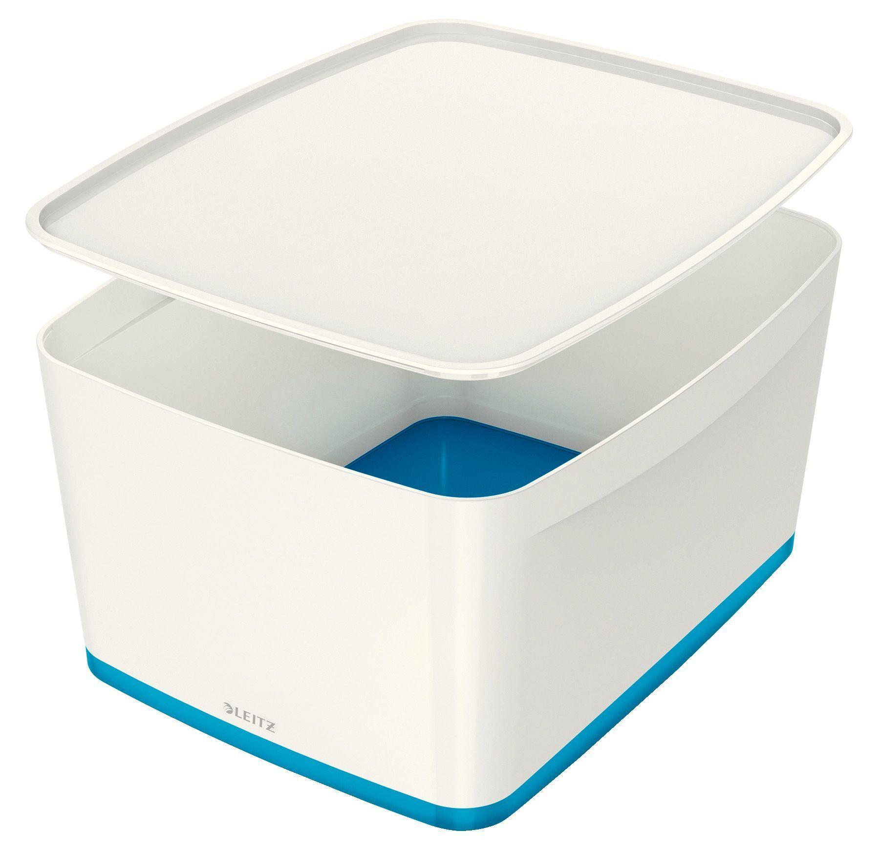 Leitz 52161036 Leitz Oppbevaringsboks m/lokk L hvit/blå