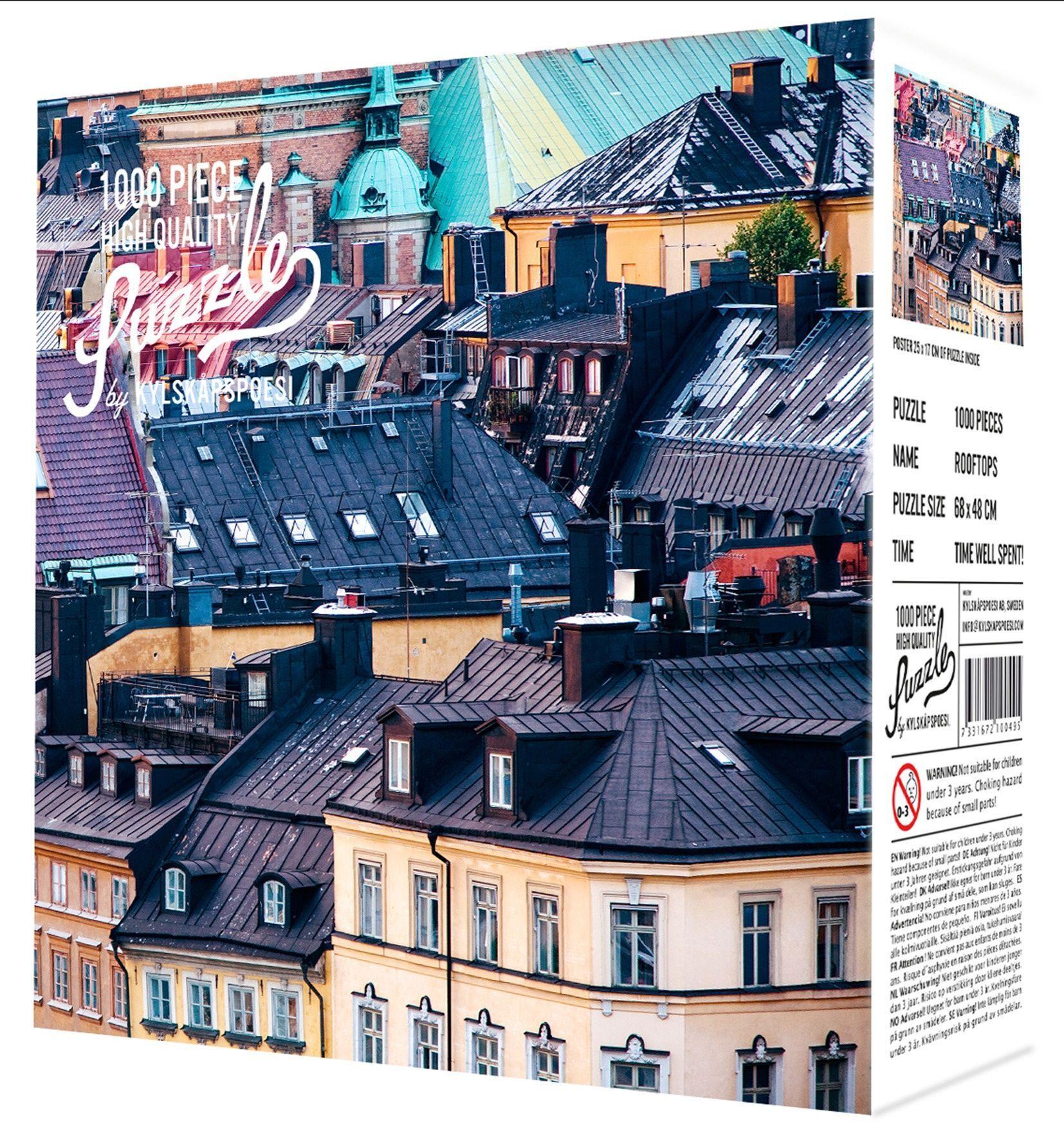 Puslespill 2100495 Puslespill med motiv av hustak