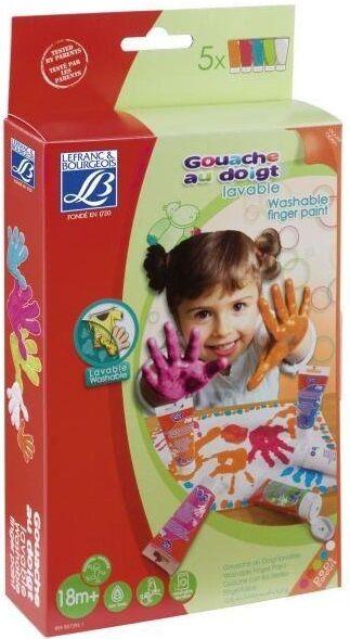 Fingermaling 5x80ml - Fem farger Franskprodusert etter strenge krav