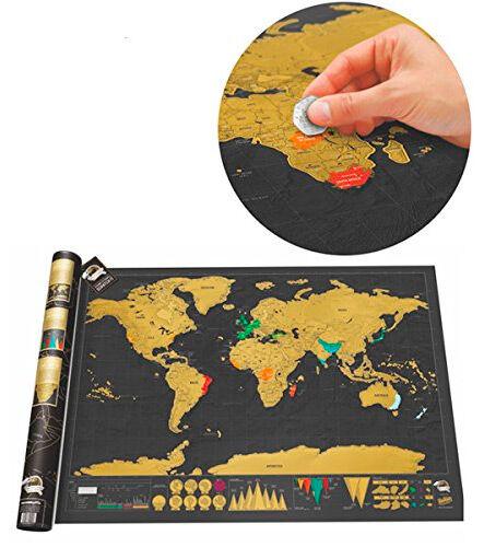 Scratch World Map - Skrapeverdenskart Skrap frem landene du har besøkt!