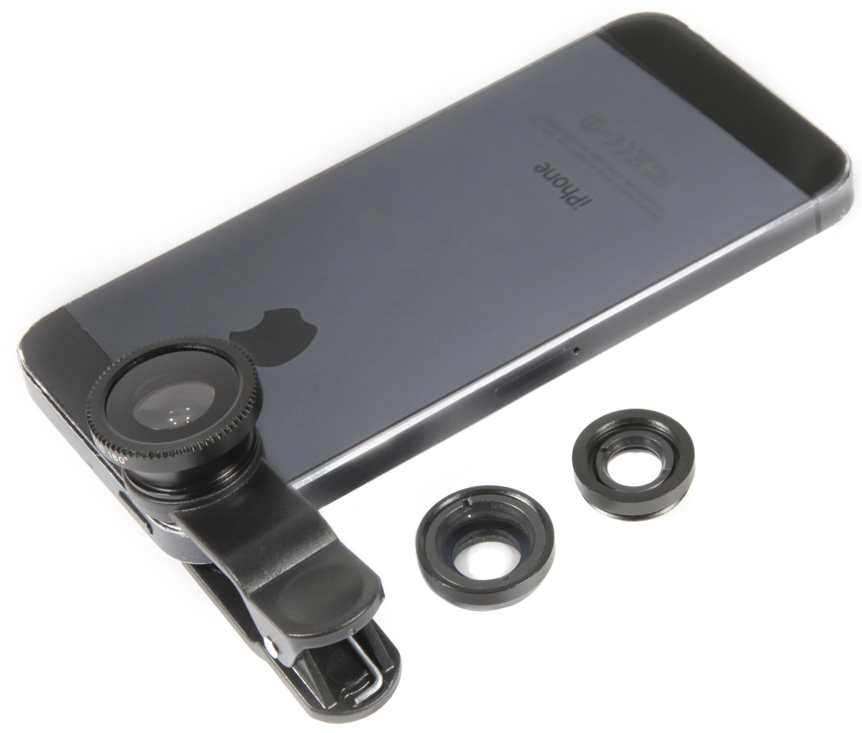 Smartphone Kamera Linsesett 3-i-1 Kameralinser til smarttelefonen din
