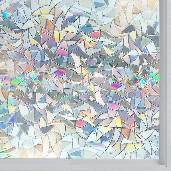 Vindusfolie 3D Glassmosaikk 200 x 44 cm Selvklebende Statisk - Bryter lyset