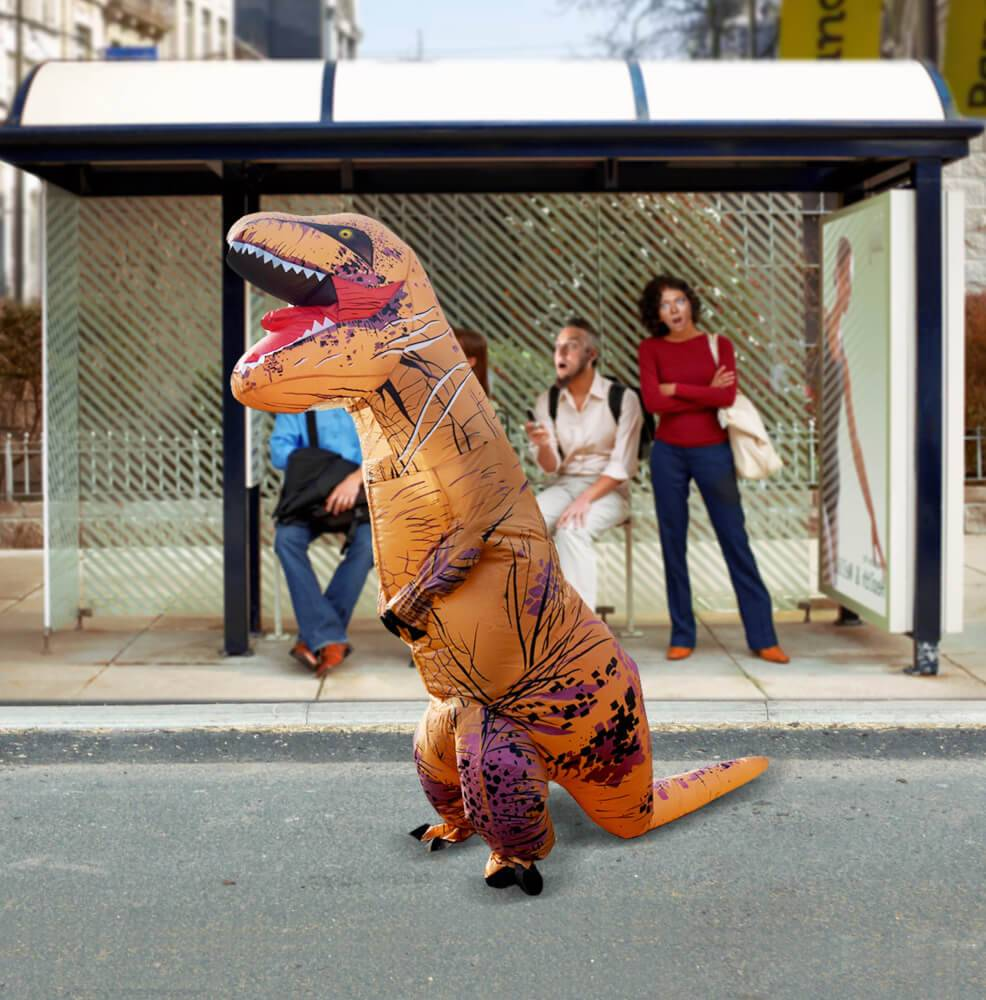 Oppblåsbar Dinosaur Kostyme T-Rex - Som sett på Youtube!