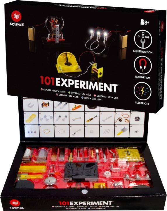 Alga Science 101 Eksperimenter Elektro Vitenskapssett for barn